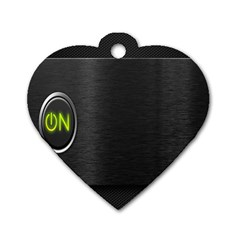 On Black Dog Tag Heart (Two Sides)