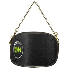 On Black Chain Purses (One Side)
