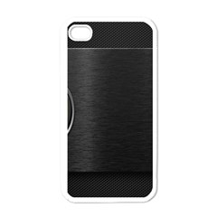 On Black Apple iPhone 4 Case (White)
