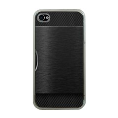 On Black Apple iPhone 4 Case (Clear)