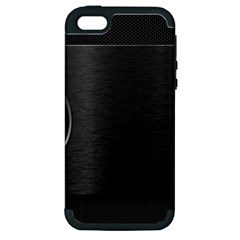 On Black Apple iPhone 5 Hardshell Case (PC+Silicone)