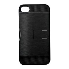 On Black Apple iPhone 4/4S Hardshell Case with Stand