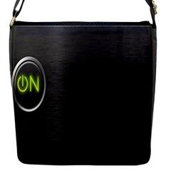 On Black Flap Messenger Bag (S)