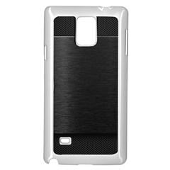 On Black Samsung Galaxy Note 4 Case (White)