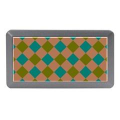 Plaid Box Brown Blue Memory Card Reader (Mini)