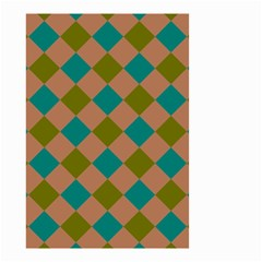 Plaid Box Brown Blue Small Garden Flag (Two Sides)