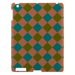Plaid Box Brown Blue Apple iPad 3/4 Hardshell Case