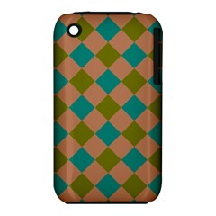Plaid Box Brown Blue iPhone 3S/3GS