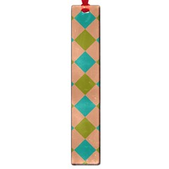 Plaid Box Brown Blue Large Book Marks