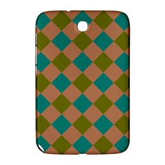 Plaid Box Brown Blue Samsung Galaxy Note 8.0 N5100 Hardshell Case