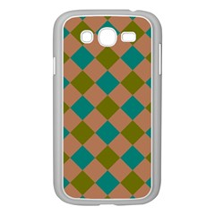 Plaid Box Brown Blue Samsung Galaxy Grand DUOS I9082 Case (White)