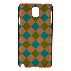Plaid Box Brown Blue Samsung Galaxy Note 3 N9005 Hardshell Case