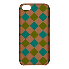 Plaid Box Brown Blue Apple iPhone 5C Hardshell Case