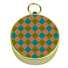 Plaid Box Brown Blue Gold Compasses