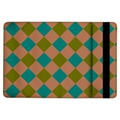 Plaid Box Brown Blue iPad Air Flip
