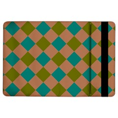 Plaid Box Brown Blue iPad Air 2 Flip