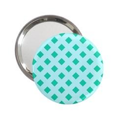 Plaid Blue Box 2.25  Handbag Mirrors