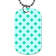 Plaid Blue Box Dog Tag (One Side)