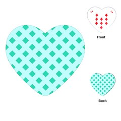 Plaid Blue Box Playing Cards (Heart)