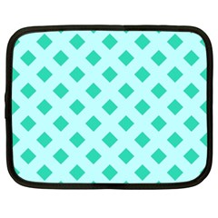 Plaid Blue Box Netbook Case (XXL)