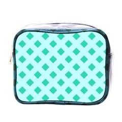 Plaid Blue Box Mini Toiletries Bags