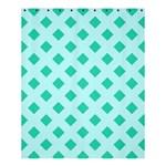 Plaid Blue Box Shower Curtain 60  x 72  (Medium)  54.25 x65.71 Curtain