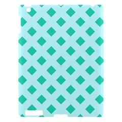 Plaid Blue Box Apple iPad 3/4 Hardshell Case