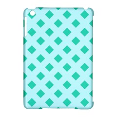Plaid Blue Box Apple iPad Mini Hardshell Case (Compatible with Smart Cover)