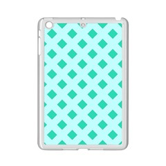 Plaid Blue Box iPad Mini 2 Enamel Coated Cases
