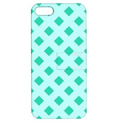Plaid Blue Box Apple iPhone 5 Hardshell Case with Stand