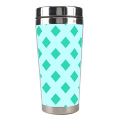 Plaid Blue Box Stainless Steel Travel Tumblers