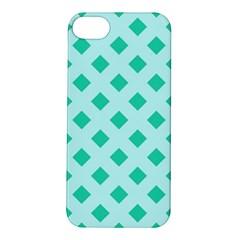 Plaid Blue Box Apple iPhone 5S/ SE Hardshell Case