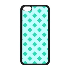 Plaid Blue Box Apple iPhone 5C Seamless Case (Black)