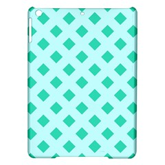 Plaid Blue Box iPad Air Hardshell Cases