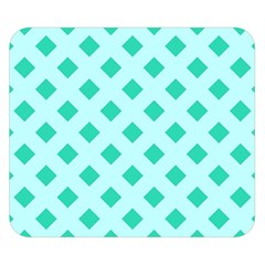 Plaid Blue Box Double Sided Flano Blanket (Small)
