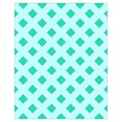 Plaid Blue Box Drawstring Bag (Small)