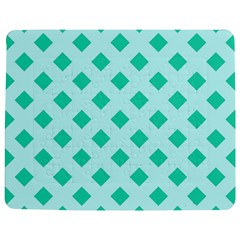 Plaid Blue Box Jigsaw Puzzle Photo Stand (Rectangular)