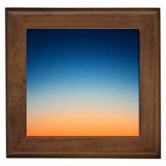 Rainbow Blue Orange Purple Framed Tiles