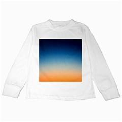 Rainbow Blue Orange Purple Kids Long Sleeve T-Shirts