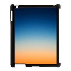 Rainbow Blue Orange Purple Apple iPad 3/4 Case (Black)