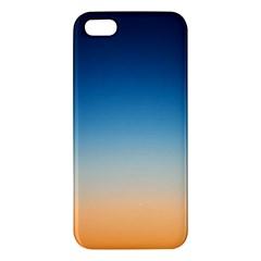 Rainbow Blue Orange Purple Apple iPhone 5 Premium Hardshell Case