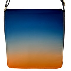 Rainbow Blue Orange Purple Flap Messenger Bag (S)