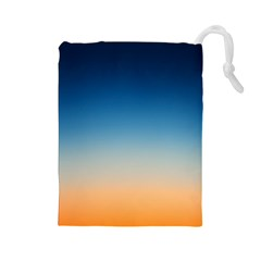 Rainbow Blue Orange Purple Drawstring Pouches (Large)