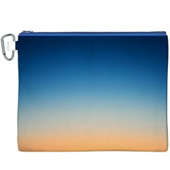 Rainbow Blue Orange Purple Canvas Cosmetic Bag (XXXL)