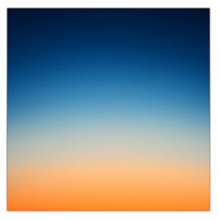 Rainbow Blue Orange Purple Large Satin Scarf (Square)