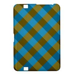 Plaid Line Brown Blue Box Kindle Fire HD 8.9