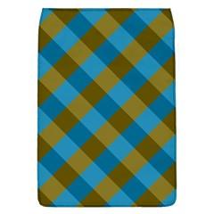 Plaid Line Brown Blue Box Flap Covers (L)