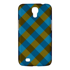 Plaid Line Brown Blue Box Samsung Galaxy Mega 6.3  I9200 Hardshell Case