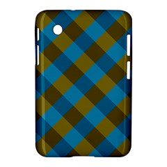 Plaid Line Brown Blue Box Samsung Galaxy Tab 2 (7 ) P3100 Hardshell Case