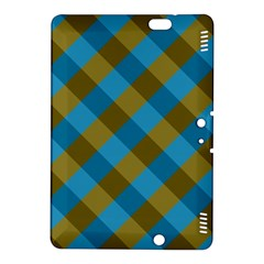 Plaid Line Brown Blue Box Kindle Fire HDX 8.9  Hardshell Case
